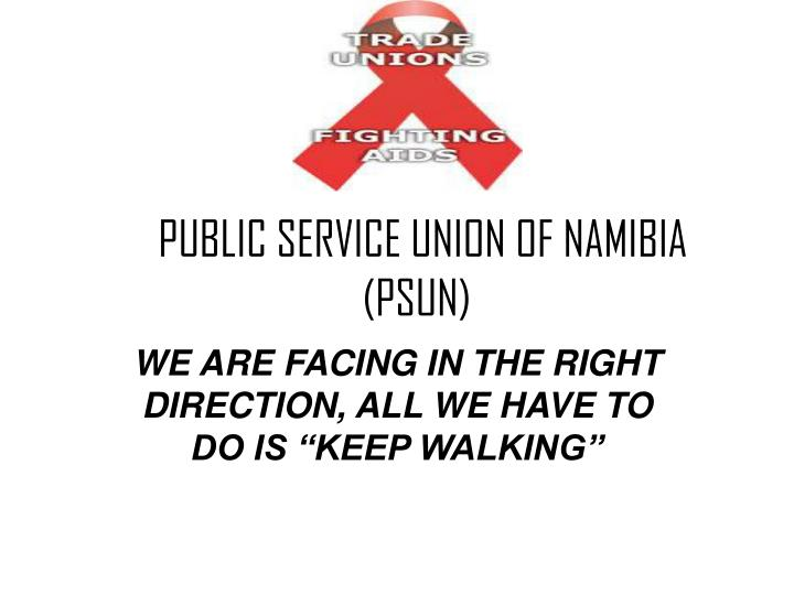 Public service union of namibia psun