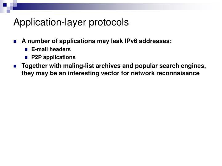 Application-layer protocols