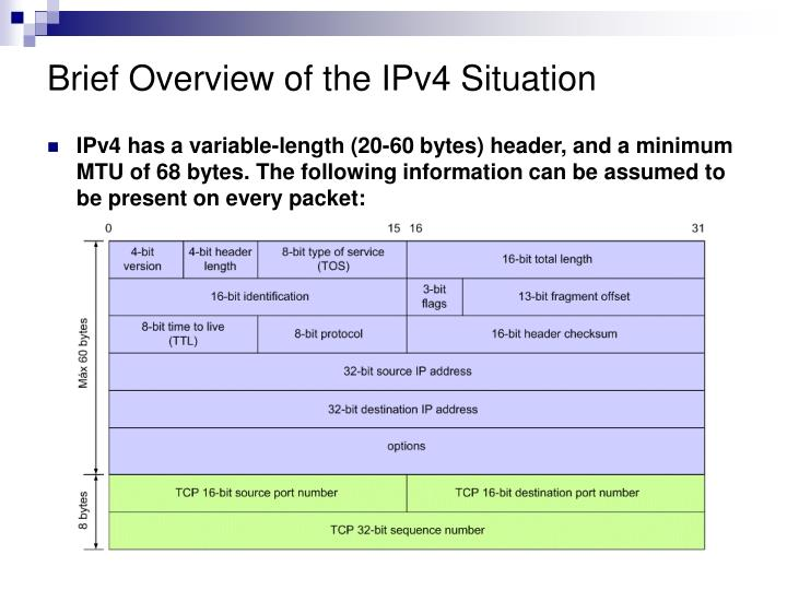 Brief Overview of the IPv4 Situation