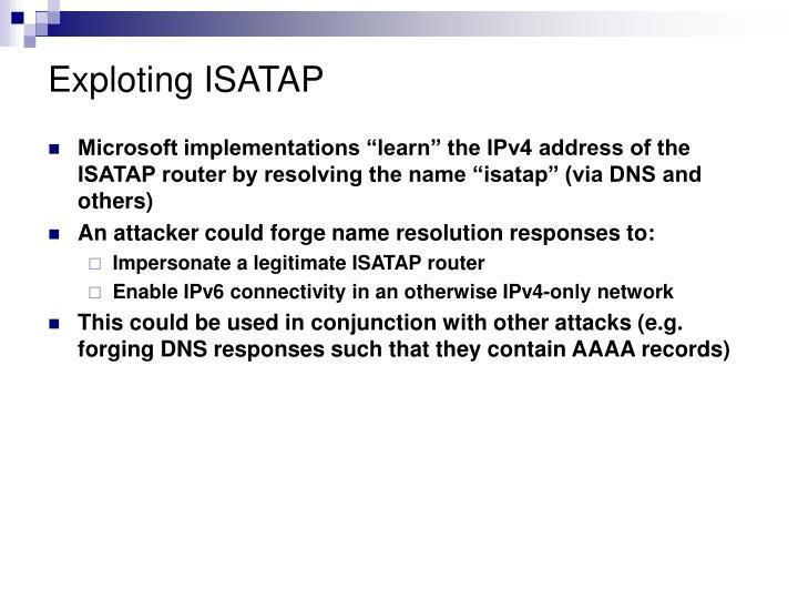 Exploting ISATAP