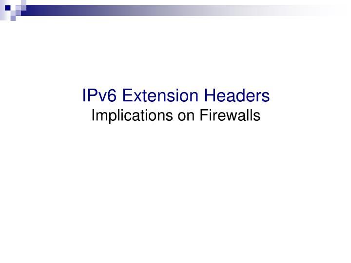IPv6 Extension Headers