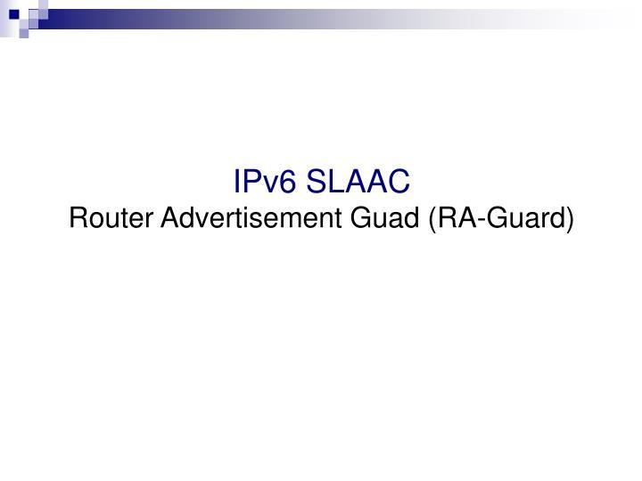 IPv6 SLAAC