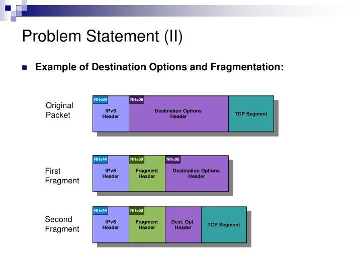 Problem Statement (II)