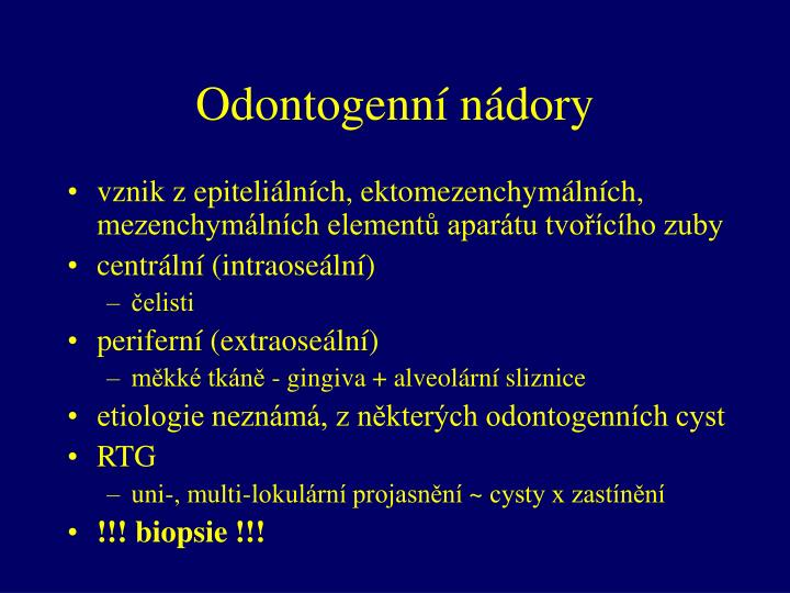 Odontogenní nádory