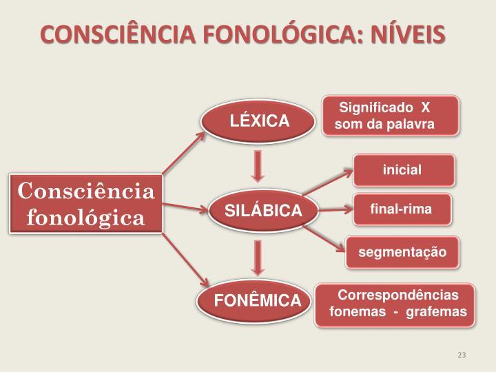 CONSCIÊNCIA FONOLÓGICA: NÍVEIS