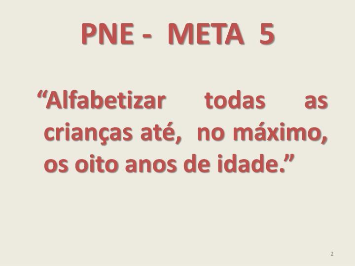PNE -  META  5