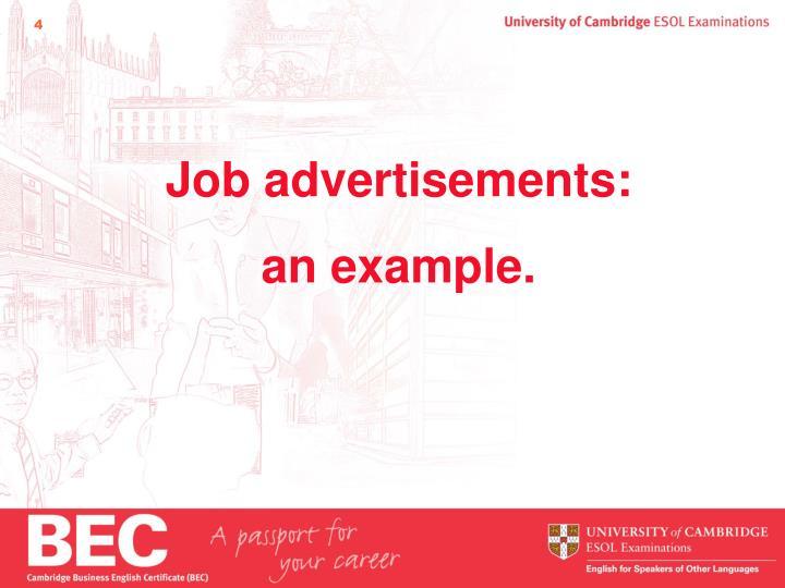 Job advertisements: