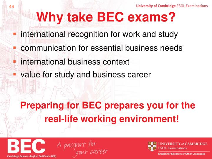 Why take BEC exams?