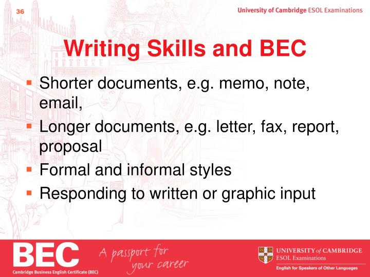 Writing Skills and BEC