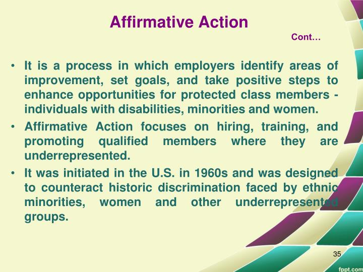 affirmative action a road to discrimination and India's affirmative action programme indias affirmative action (aa) programme is primarily caste-based, although there is some aa  the case for caste-based affirmative action in india  discrimination insures that outcomes will necessarily be unequal, even if there were no active labour market discrimination.
