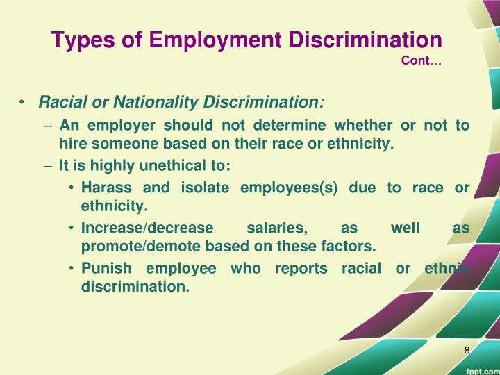 "unequal employment opportunities is the main ""unequal employment opportunities is the main cause of armed conflict within a nation-state"" do you agree explain your answer i agree that unequal employment opportunities is one."