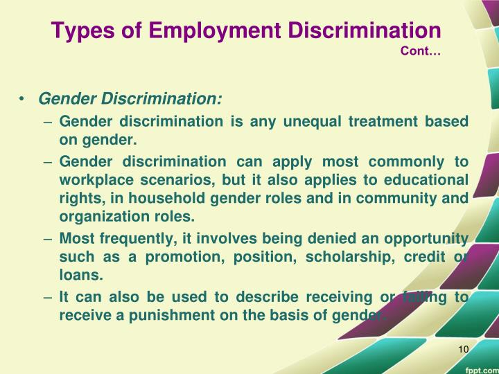 the ethics of job discrimination Description the ethics of job discrimination diversity amongst business executives has increased due both to increased efforts by.