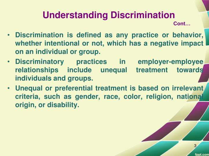 understanding workplace discrimination Understanding employment  it is important to check with your workplace policies  many companies offer policies that prohibit sexual orientation discrimination.
