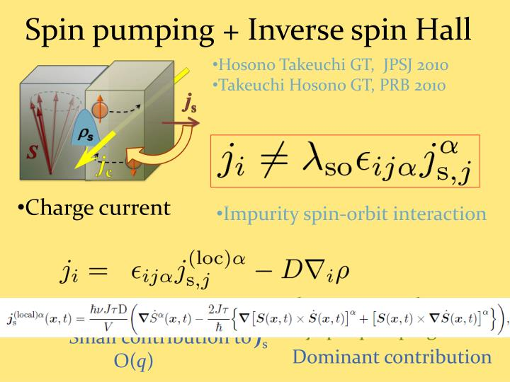 Spin pumping + Inverse spin Hall