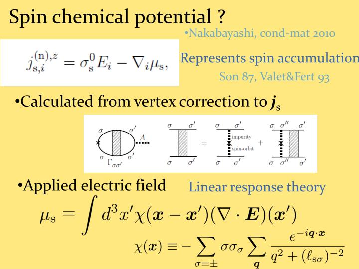 Spin chemical potential ?