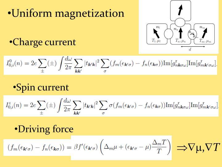 Uniform magnetization
