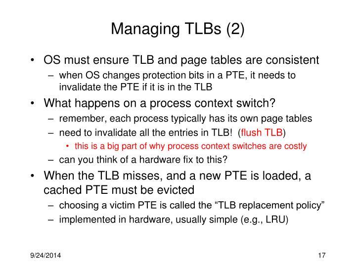 Managing TLBs (2)