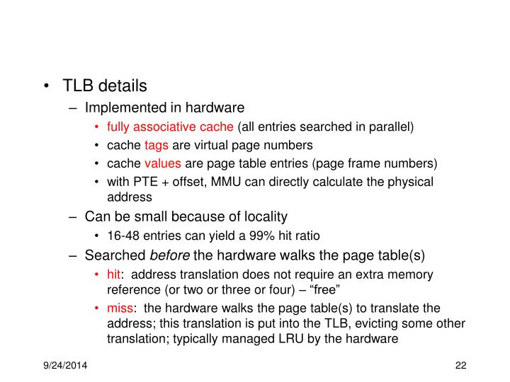 TLB details