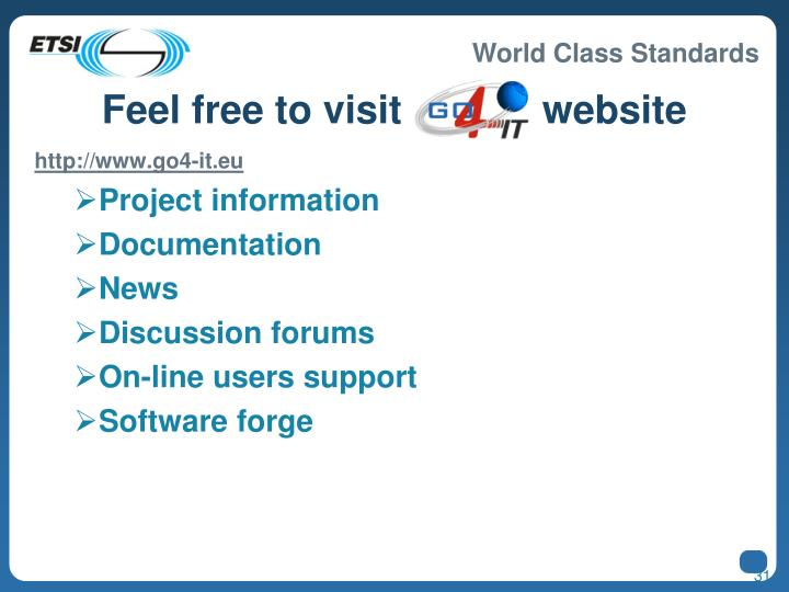 Feel free to visit GO4IT website