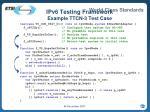 ipv6 testing framework example ttcn 3 test case