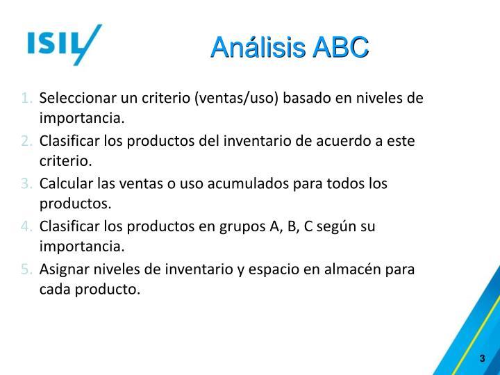 Análisis ABC