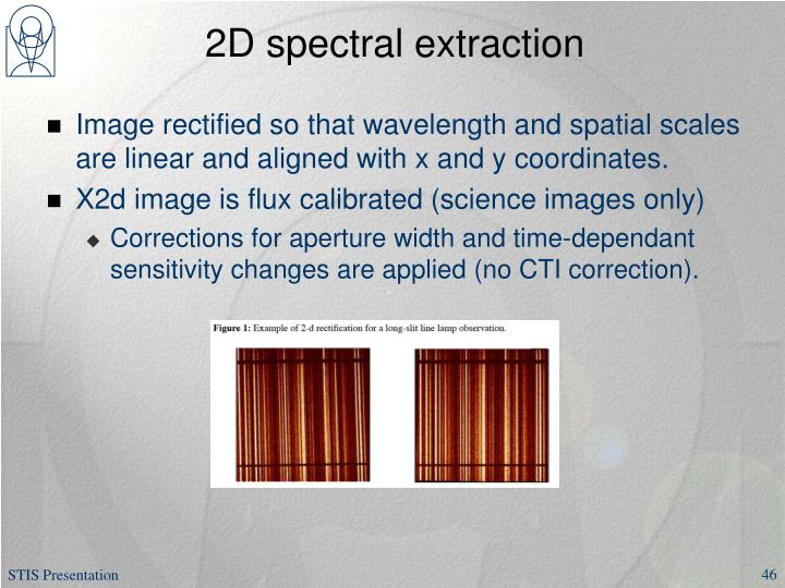 2D spectral extraction