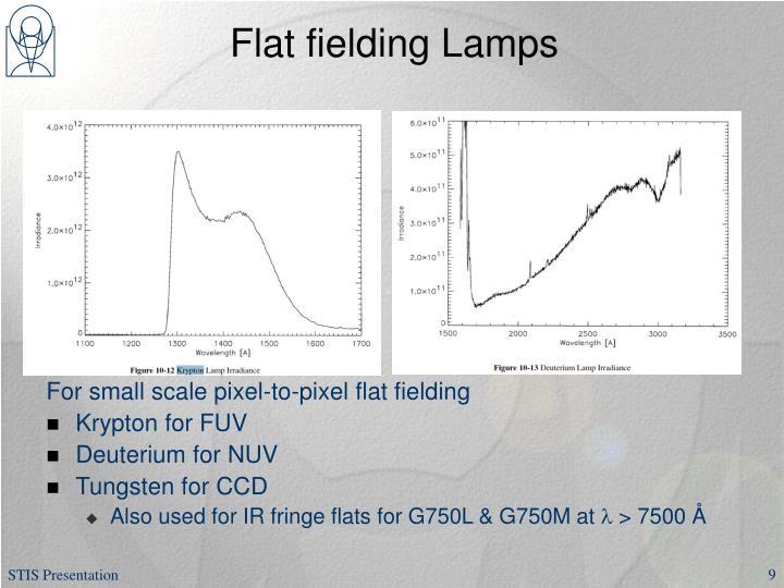 Flat fielding Lamps