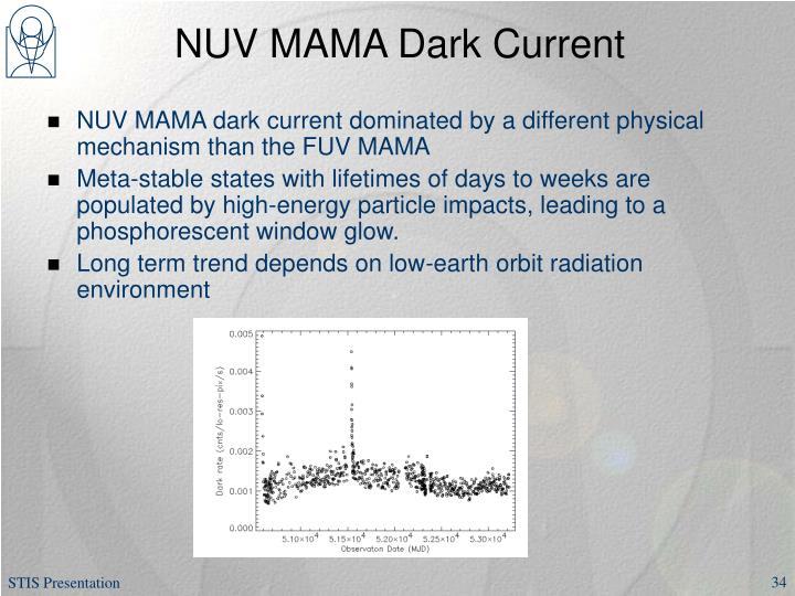NUV MAMA Dark Current