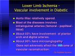 lower limb ischemia vascular involvement in diabetic