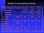 results of percutaneous therapy1