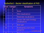 rutherford becker classification of pvd