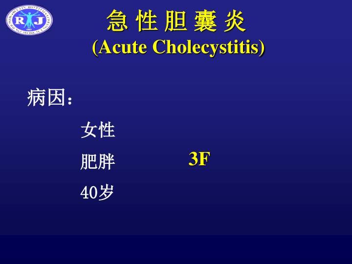 急 性 胆 囊 炎