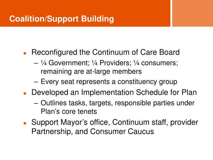 Coalition/Support Building