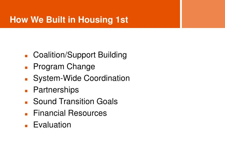 How We Built in Housing 1st