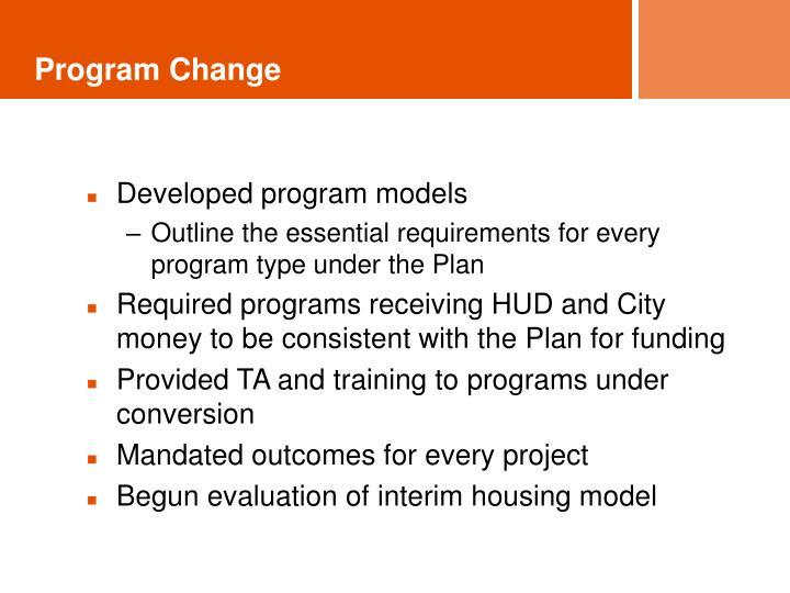 Program Change