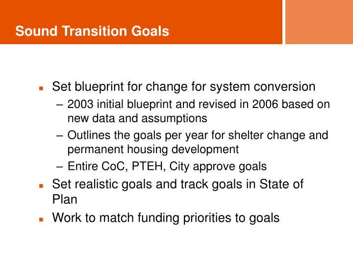 Sound Transition Goals
