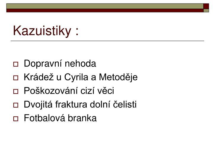 Kazuistiky :