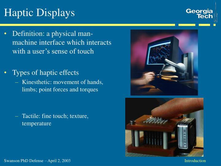 Haptic Displays