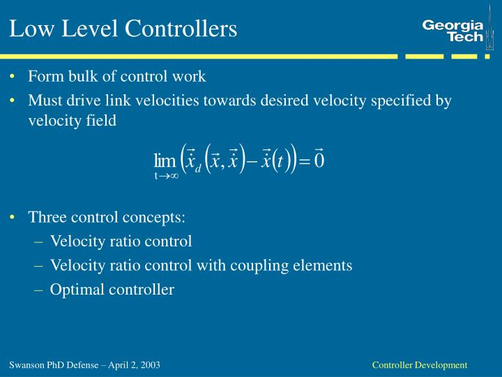 Low Level Controllers