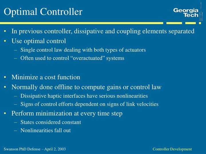Optimal Controller