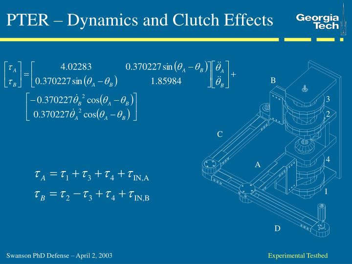 PTER – Dynamics and Clutch Effects