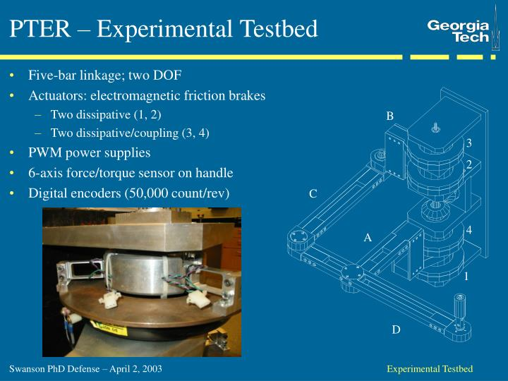 PTER – Experimental Testbed