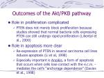 outcomes of the akt pkb pathway