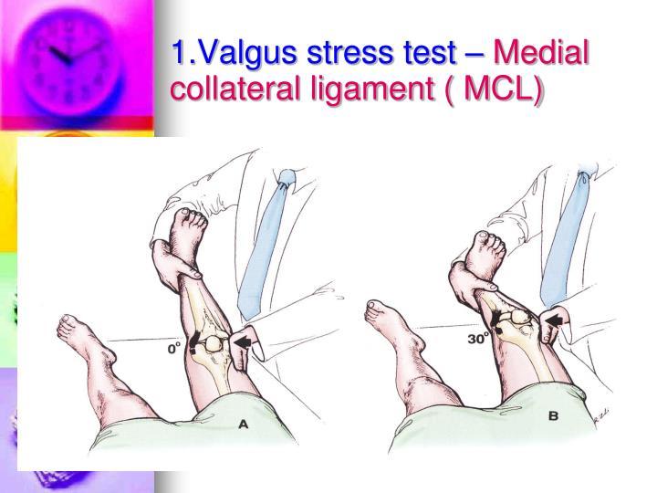 1.Valgus stress test –