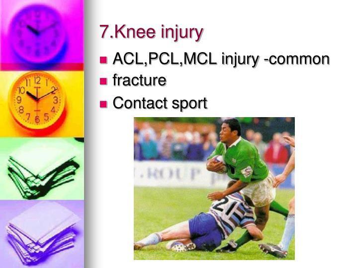 7.Knee injury
