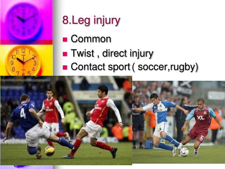 8.Leg injury