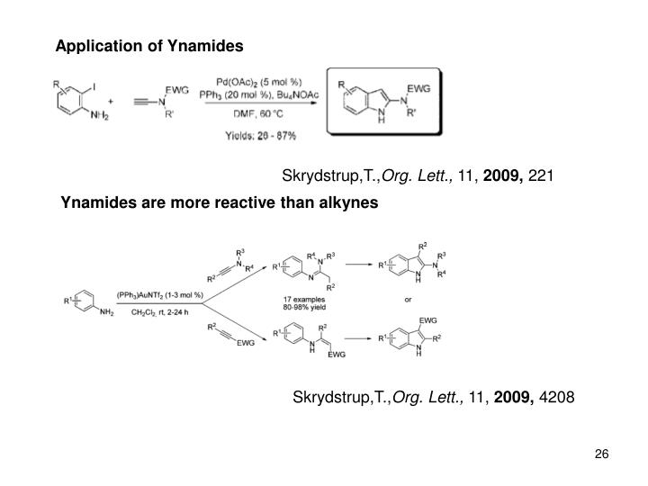 Application of Ynamides