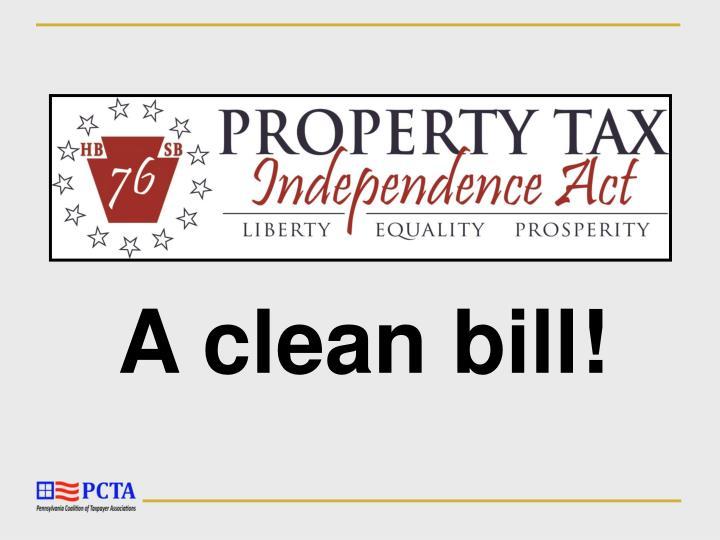 A clean bill!