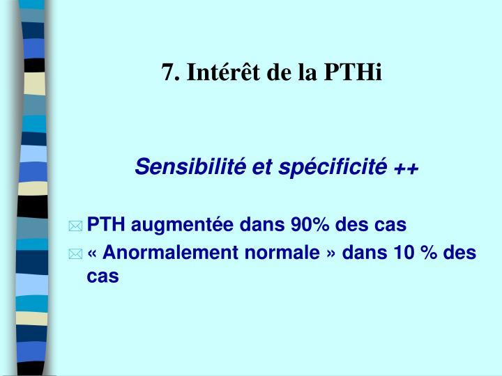 7. Intérêt de la PTHi