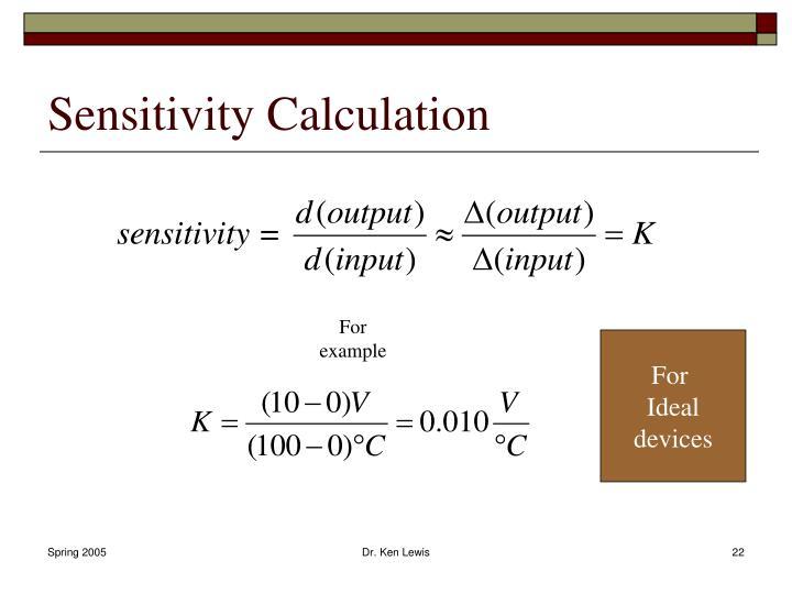 Sensitivity Calculation